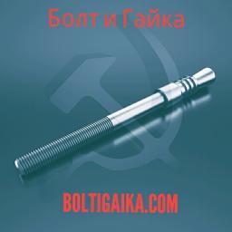 Фундаментный болт с коническим концом тип 6.1 м16х500 сталь 3сп2 ГОСТ 24379.1-2012