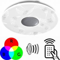 Светильник накладной светодиодный Estares A-play 60W (4900lm) 2K-4K-6K d527x65мм ПУЛЬТ ДУ, динамик, RGB подсветка