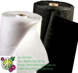 Спанбонд геотекстиль нетканое полно в рулонах:белый и чёрный