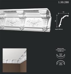 СКИДКИ! 170мм*144*2000 мм Потолочный карниз Европласт 1.50.280