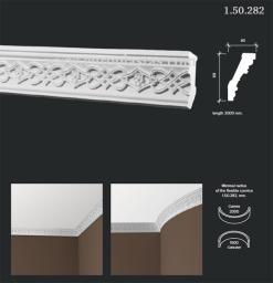 СКИДКИ! 69мм*40*2000 мм Потолочный карниз Европласт 1.50.282