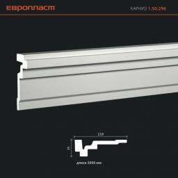 СКИДКИ! 35мм*110*2000 мм Потолочный карниз Европласт 1.50.296