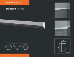 СКИДКИ! 28мм*15*2000 мм Полиуретановый молдинг Европласт 1.51.305