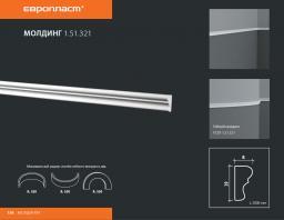 СКИДКИ! 19мм*8*2000 мм Полиуретановый молдинг Европласт 1.51.321