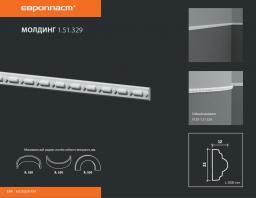 СКИДКИ! 23мм*12*2000 мм Полиуретановый молдинг Европласт 1.51.329