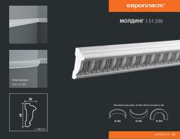 СКИДКИ! 60мм*28*2000 мм Полиуретановый молдинг Европласт 1.51.330