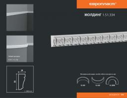СКИДКИ! 33мм*14*2000 мм Полиуретановый молдинг Европласт 1.51.334
