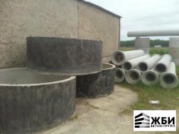 Колодец КЦДГ 20-9 с гидроизоляцией Кольцо бетонное с дном в Ступино / Домодедово