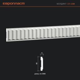 СКИДКИ! 40мм*9*2000 мм Полиуретановый молдинг Европласт 1.51.338