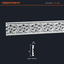 СКИДКИ! 60мм*10*2000 мм Полиуретановый молдинг Европласт 1.51.365
