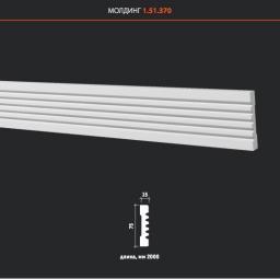 СКИДКИ! 75мм*15*2000 мм Полиуретановый молдинг Европласт 1.51.370