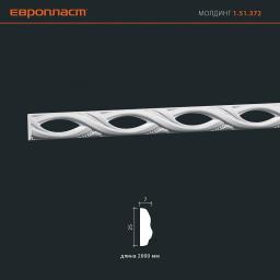 СКИДКИ! 25мм*7*2000 мм Полиуретановый молдинг Европласт 1.51.372