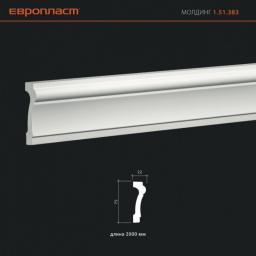 СКИДКИ! 75мм*22*2000 мм Полиуретановый молдинг Европласт 1.51.383