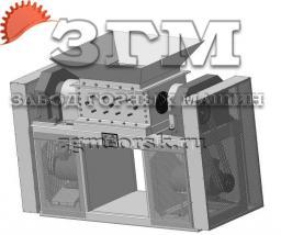 Шредер двухроторный ШД-650х800 (для мясоперерабатывающего комбината)