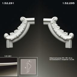 СКИДКИ! 195*195*22 мм Полиуретановый угловой элемент Европласт 1.52.291