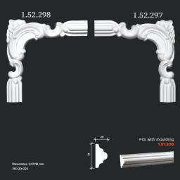 СКИДКИ! 223*215*20 мм Полиуретановый угловой элемент Европласт 1.52.298