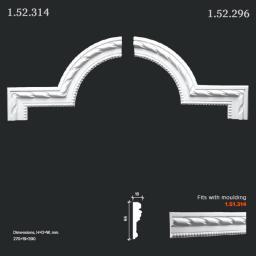 СКИДКИ! 390*270*19 мм Полиуретановый угловой элемент Европласт 1.52.314