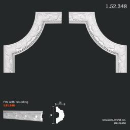 СКИДКИ! 250*250*25 мм Полиуретановый угловой элемент Европласт 1.52.348