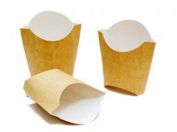 Упаковка картонная для картофеля фри из крафт картона р-р