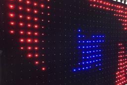 Светодиодный занавес с управлением DMX или SD карты 6х4 метра, Шаг пикселя 10 см