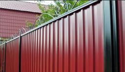 Забор из проф.листа МП20 крашенный