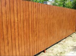 Забор с имитацией дерева
