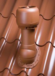 Вентиляционный выход в сборе (УТЕПЛЕННЫЙ)коричневый,красный,зеленый труба 110,125мм