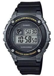 Японские наручные  мужские часы Casio W-216H-1B. Коллекция Digital