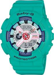 Японские наручные  женские часы Casio BA-110SN-3A. Коллекция Baby-G