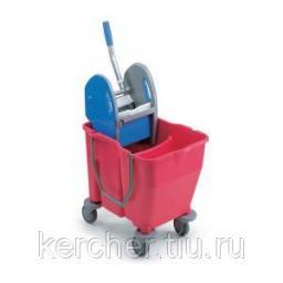 Euromop Ведро на колёсах с отжимом и перегородкой 2х15 л(с краном)