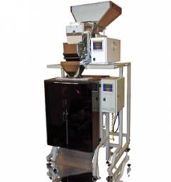 Фасовочный упаковочный автомат для сыпучих с весовым дозатором (до 15 упаковок в минуту)