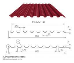 Профнастил МП-20 окрашенный ПОЛИЭСТЕР