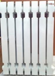 Чугунный радиатор Konner модерн 500 мм с монтажными комплектами