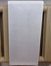 Экран металлический для радиаторов на 3 секции, экран на батарею