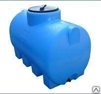Пластиковая емкость 750 л цилиндрическая горизонтальная