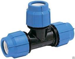 Фитинг компрессионный 20*20*20 для трубы ПНД 20 мм