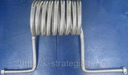 Змеевики из гофрированной нержавеющей трубы 25 мм