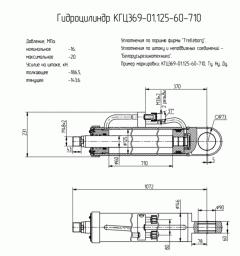Гидроцилиндр стрелы ТО-18 КГЦ369-01.125-60-710