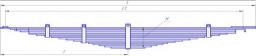 Рессора передняя 15 листов Камаз 55111, 55111-2902012-01