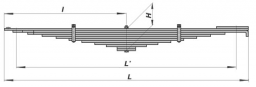 Рессора передняя 11 листов Камаз 65115, 65115-2902012