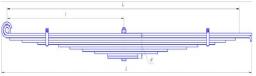 Рессора передняя 11 листов Камаз 65115, 65115-2902012-20