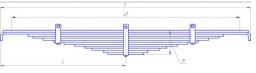 Рессора задняя ЕВРО 12 листов Камаз 5322, 5322-2912012-02