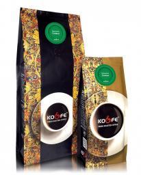 Ароматизированный кофе Сливки (1 кг, Марагоджип, в зернах)