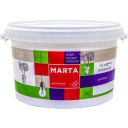 Краска для потолков MARTA ECO белая 3 кг