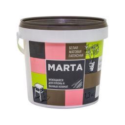 Краска для кухонь и ванных комнат MARTA ECO белая 1.3 кг