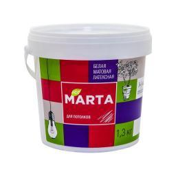 Краска для потолков MARTA ECO белая 1.3 кг