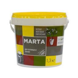 Краска для гостиных и спален MARTA ECO белая 1.3 кг