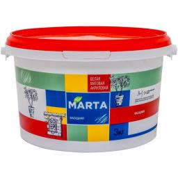 Краска фасадная MARTA ECO белая 3 кг