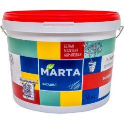 Краска фасадная MARTA ECO белая 14 кг