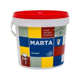 Краска фасадная MARTA ECO белая 1.3 кг